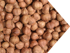 raw natural hazelnuts