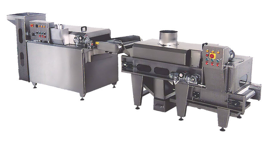 BIONOT Automatic Continuous line frying cooling salting NOT96S SMALL